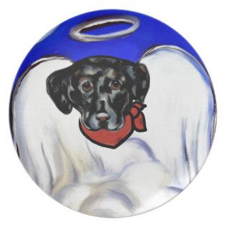 Black Labrador Retriever Plate