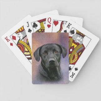 Black Labrador Retriever Playing Cards
