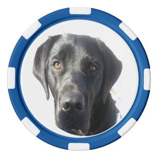 Black Labrador Retriever Poker Chip