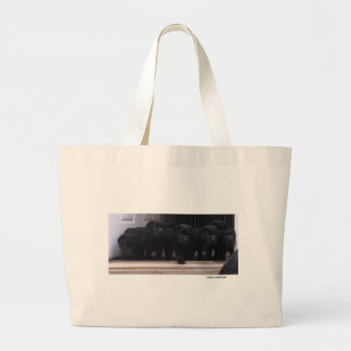 Black Labrador Retriever Puppies - Tote Bag