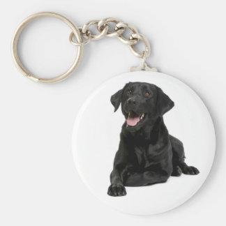 Black Labrador Retriever Puppy Dog Keychain