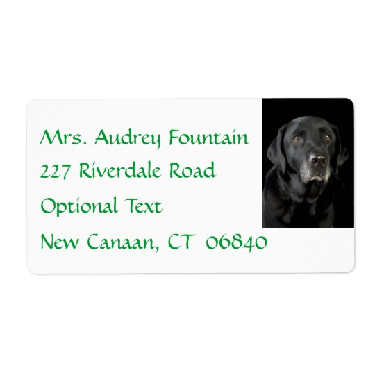 Black Labrador Retriever Return Name Address Label