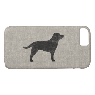 Black Labrador Retriever Silhouette iPhone 7 Case