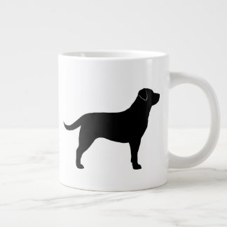 Black Labrador Retriever Silhouettes Large Coffee Mug