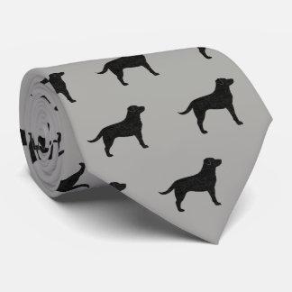 Black Labrador Retriever Silhouettes Pattern Tie