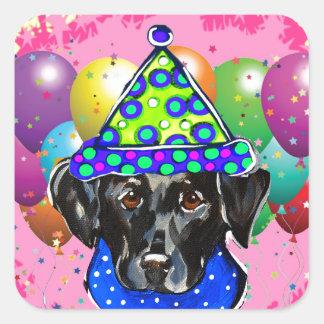 Black Labrador Retriever Square Sticker