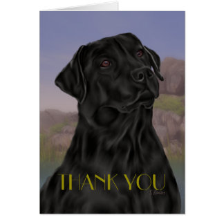 Black Labrador Retriever Thank you Card