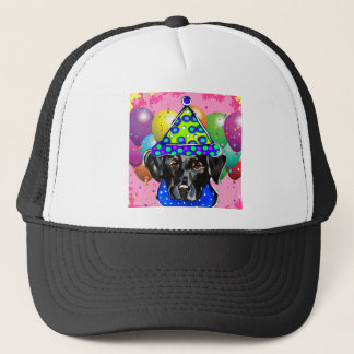 Black Labrador Retriever Trucker Hat