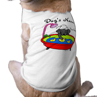 Black Labrador & Rubber Ducks Cartoon Dog T Shirt