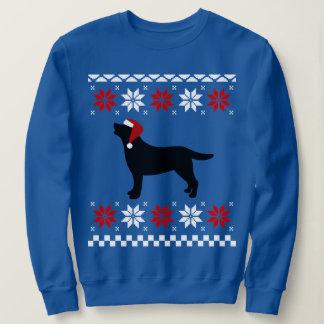 Black Labrador Silhouette Santa Christmas Sweatshirt
