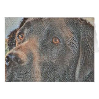 Black Labrador Sketch Card