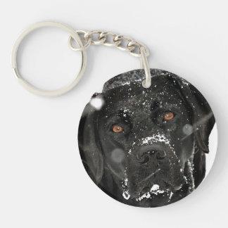 Black Labrador - Snow Globe Keychain