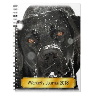 Black Labrador - Snow Globe Notebook