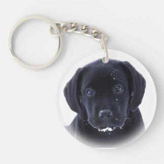 Black Labrador - Snow Puppy Keychain