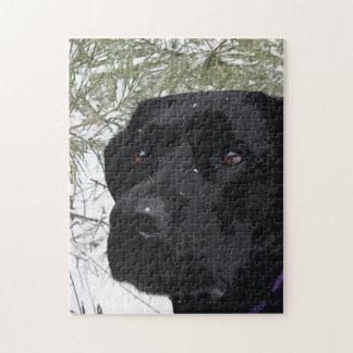 Black Labrador - Sparkling Pines Jigsaw Puzzle