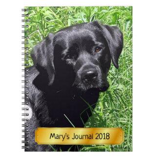 Black Labrador - Spring Day Notebook