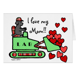 Black Labrador Stole Your Heart Mother's Day Card