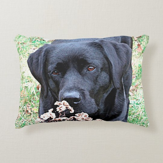 Black Labrador - Take Time Accent Pillow