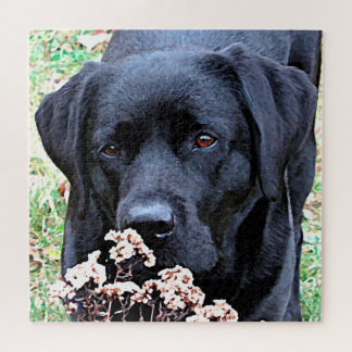 Black Labrador - Take Time Jigsaw Puzzle