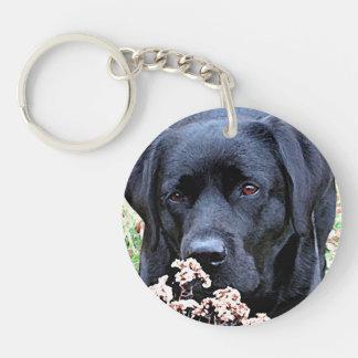 Black Labrador - Take Time Keychain