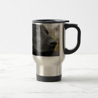 Black labrador travel mug