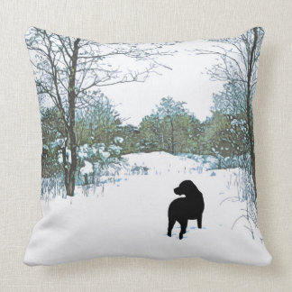 Black Labrador - Treasures Throw Pillow