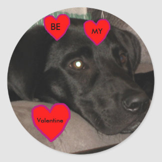 Black Labrador Valentine Sticker