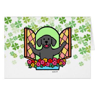 Black Labrador Window Card