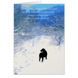 Black Labrador - Winter Path Card