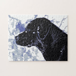 Black Labrador - Winter Wonderland Jigsaw Puzzle