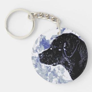 Black Labrador - Winter Wonderland Keychain