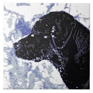 Black Labrador - Winter Wonderland Tile