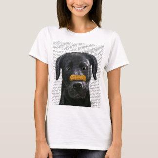 Black Labrador With Bone on Nose T-Shirt