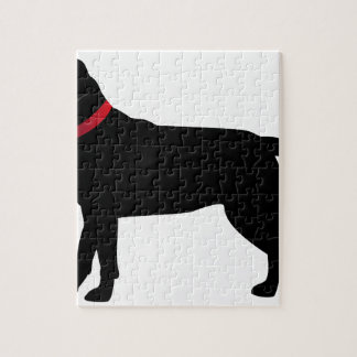 Black Labrador with Red Collar Jigsaw Puzzle