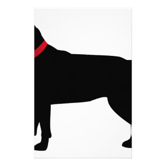 Black Labrador with Red Collar Stationery