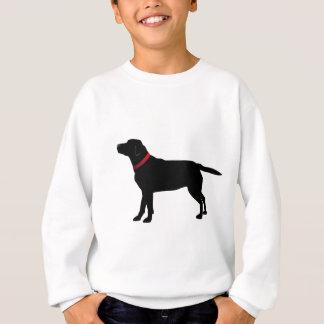 Black Labrador with Red Collar Sweatshirt