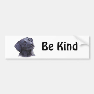 Black Labradore Retriever Bumper Sticker