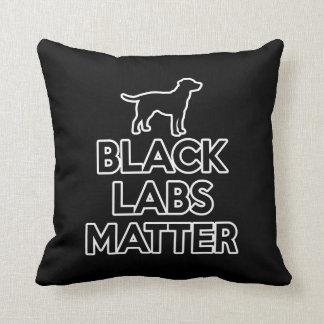 Black Labs Matter Throw Pillow
