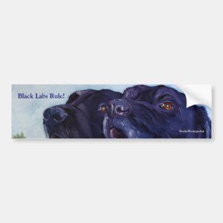 Black Labs Rule!, SheilaWedegisArt Bumper Sticker