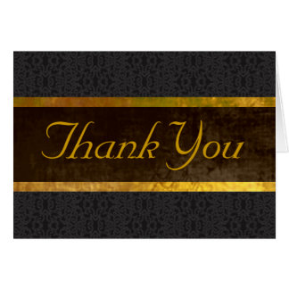Black Lace & Banner Thank You Card