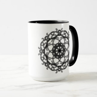 Black Lace Bloom ~ Mug