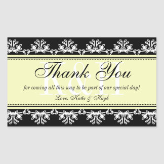 Black lace border thank you out of town gift bag
