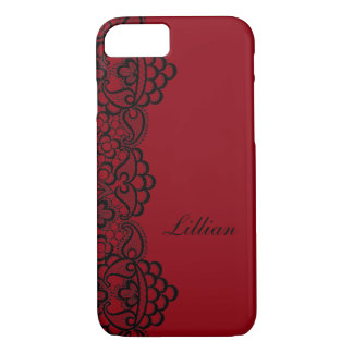 Black Lace Custom iPhone 7 Case