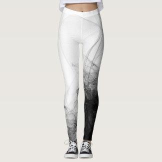 Black lace netting fashion sophisticated white leggings