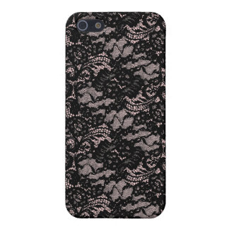 Black lace on pink iPhone 4 skin Case For The iPhone 5
