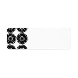 Black Lace Pattern Design. Custom Return Address Label