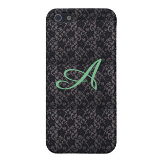 Black lace pattern iPhone case & Monogram letter Case For The iPhone 5