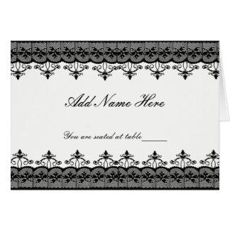 Black Lace Place Cards