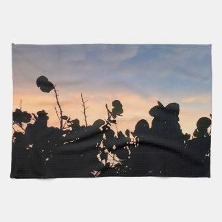 Black Lace Sunset Towels