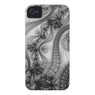 black lace tendrils iPhone 4 covers